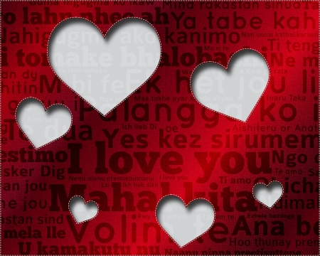 Say I love you in many languages Vector