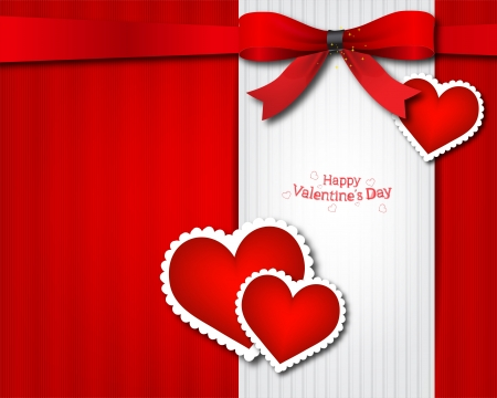 The Valentine s day  Invitation card Vector