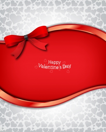 Beautiful vector background on Valentine s Day  Vector
