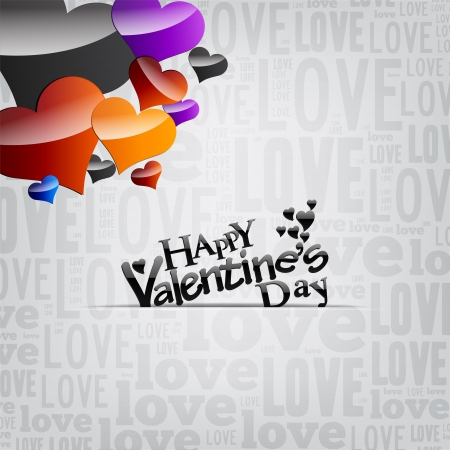 Valentine s day silver card background Vector