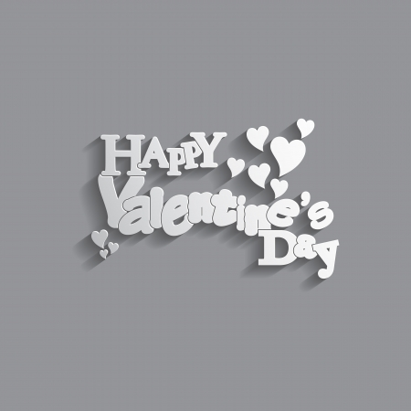 Valentines Day background with letter design with a nice text  Stock Vector - 17513495