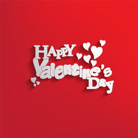 Valentines Day background with letter design with a nice text Stock Vector - 17513496