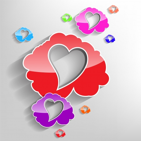 glamorous couple: Valentines Day Clouds with a heart shaped inside in many colors