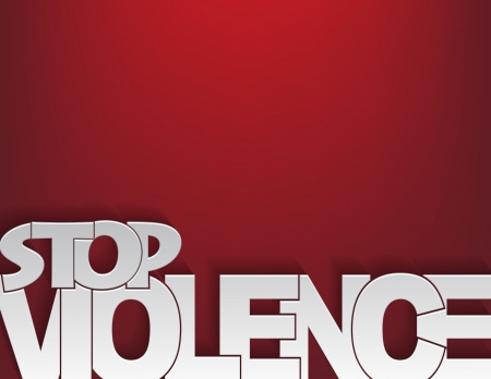 violent: Background concept with the text stop violence on a red background. Illustration