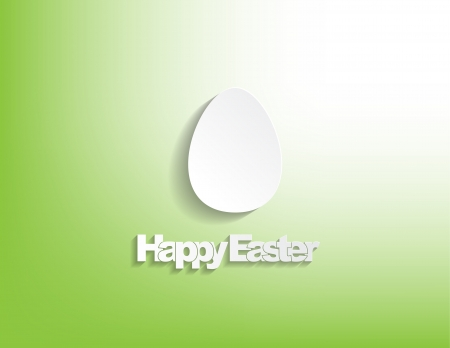 Happy Easter with a egg , sticker on a green background. Stock Vector - 17513550