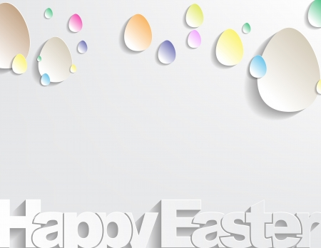 Happy Easter Background with sticker eggs, simple background Stock Vector - 17513553
