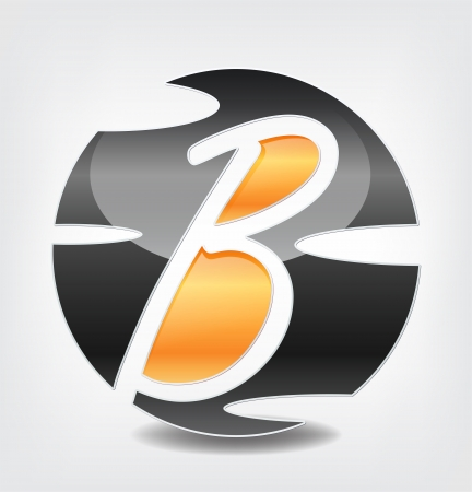 Company symbol with the letter B inside  Vector