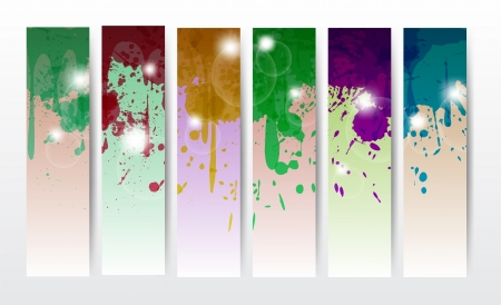 splat banners in different colors for web or anything. Vector