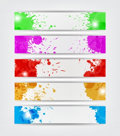 anything: splat banners in different colors for web or anything.