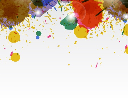 paint wallpaper for your business with different splats. Stock Vector - 17624261