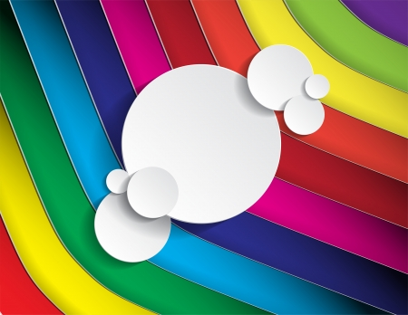 rainbow colours: Background with lines in many colors and space for text in circle form