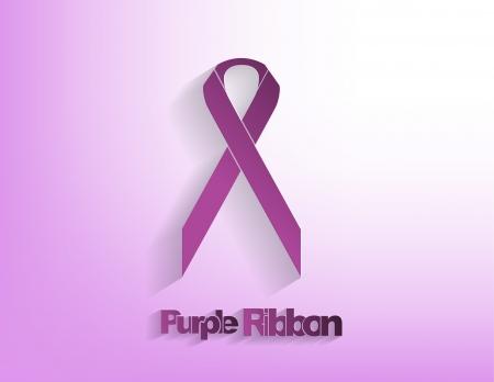 передозировка: Фиолетовая лента осведомленности на фиолетовом фоне.