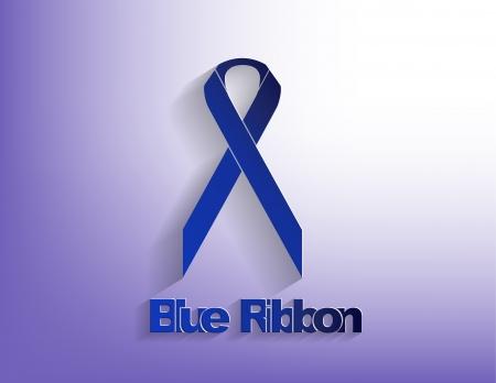 maltrato infantil: La cinta azul sobre un fondo azul.