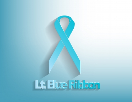 Lt. Blue awareness Ribbon on a Lt. Blue background. Stock Vector - 17624215
