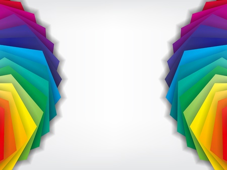 rainbow stripe: Colorful Business Background with the main colors, on the sides of the paper.