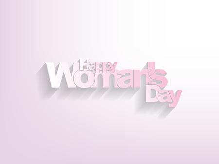 Happy woman's day Background paper version with shadows. Stock Vector - 17718694