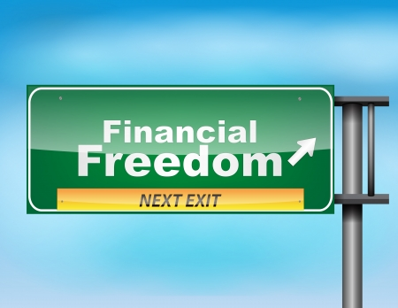 financial freedom: Road sign concept with the text Financial