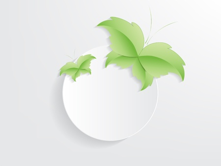 Green Butterfly Leaf Concept with space for text. Stock Vector - 17853441
