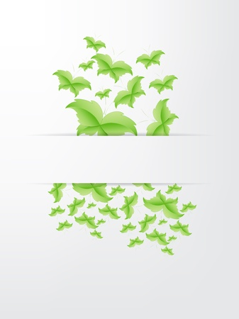 Green Butterfly Leaf Concept with space for text. Stock Vector - 17853437