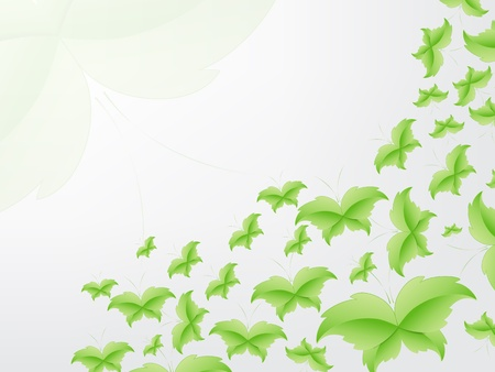 Green Butterfly Leaf Concept with space for text. Stock Vector - 17853438