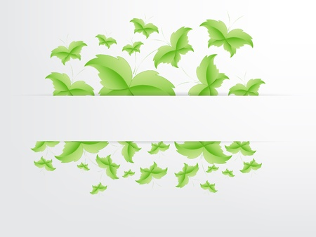 Green Butterfly Leaf Concept with space for text. Stock Vector - 17853439