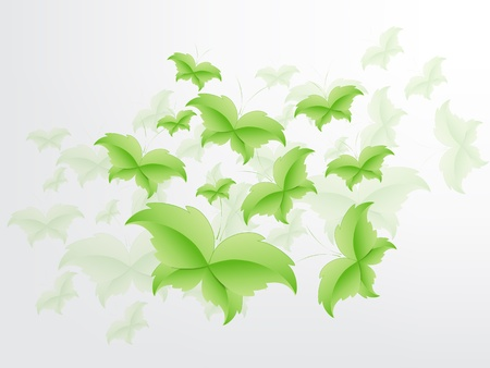 Green Butterfly Leaf Concept with space for text. Stock Vector - 17853442