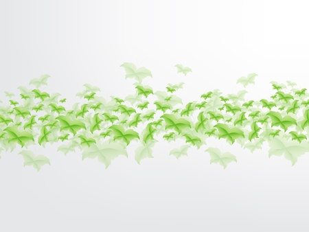 Green Butterfly Leaf Concept with space for text. Vector