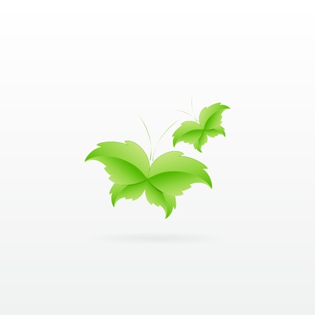 Green Butterfly Leaf Concept with space for text. Stock Vector - 17853448