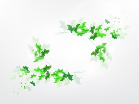 Environmental Background with green leaf butterflies on a light green background. Stock Vector - 17965696