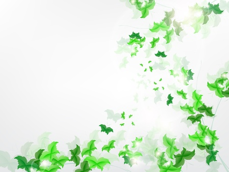 Environmental Background with green leaf butterflies on a light green background. Stock Vector - 17965691