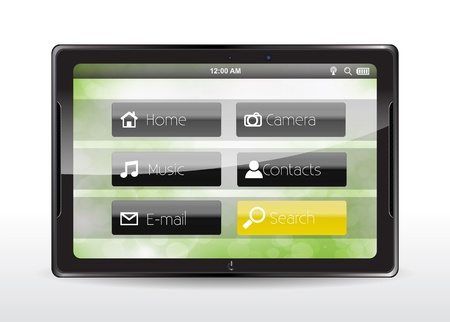 Tablet concept with a yellow