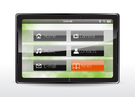 Tablet concept with a orange