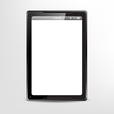Black tablet concept with blank screen for your text/image Stock Vector - 18215399