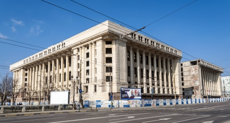 bucuresti: Casa Radio is a massive unfinished building, which is a legacy from the Ceausescu era. It was originally intended to be the headquarters of the national radio station.
