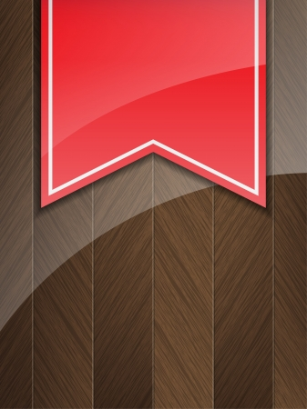 insertion: Business background with wood insertion and a red vintage ribbon