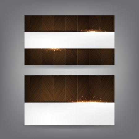 Wood and sparks theme business card template (Part 1) Vector