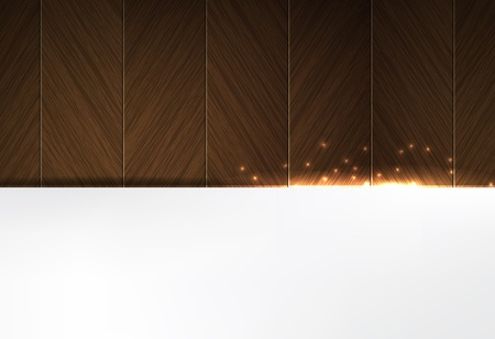 Dark Wood and glowing sparks theme business background Vector