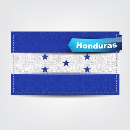 bandera honduras: Tela textura de la bandera de Honduras con un lazo azul.
