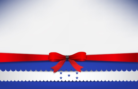 recollection: Abstract background with the Honduras Flag and a red bow. Illustration