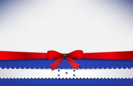 bandera honduras: Resumen de fondo con la bandera de Honduras y un arco rojo.