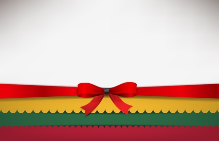 lithuania flag: Abstract background with the Lithuania Flag and a red bow.