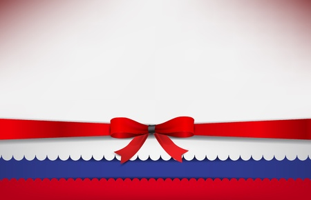 recollection: Abstract background with the Russia Flag and a red bow.