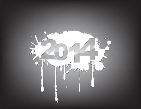 new year 2014 celebration with an underground concept. Vector
