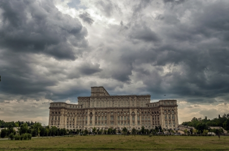 civilian: House of Parliament or Peoples house in Bucharest. Is the worlds largest civilian administrative building