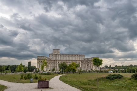 House of Parliament or Peoples house in Bucharest. Is the worlds largest civilian administrative building photo