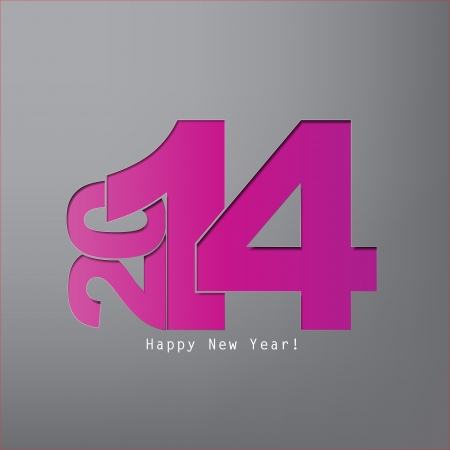 Happy new Year 2014 with space for text Stock Vector - 20639382