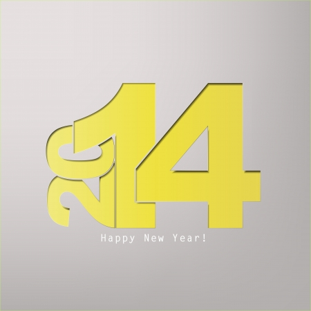 Happy new Year 2014 with space for text Stock Vector - 20639381