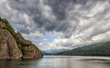 Vidraru Lake in Fagarasi Mountains, Romania