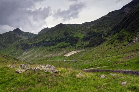 Beautiful mountains landscape in Carpathian on the Transfagarasan road. photo
