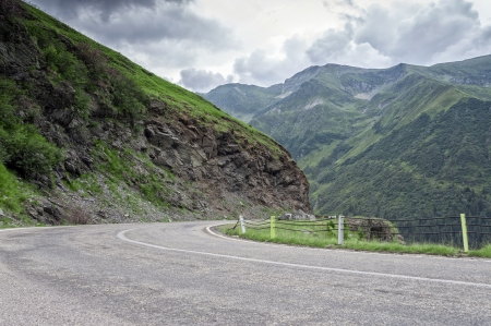 Mountain road on the Transfagarasan, Romania Fagaras Mountains photo